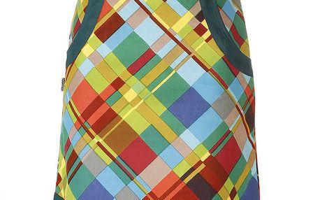 Dámská zelená sukně s barevným vzorem Savage Culture
