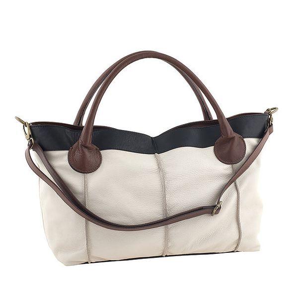 Dámská prostorná kožená kabelka Valentina Italy