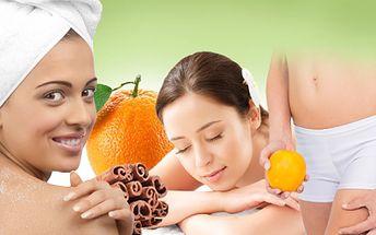 Celotělový peeling s masáží zad a šíje pomerančovým olejem, nebo anticelulitidní skořicový zábal s anticelulitidní masáží! Hodinová péče za 189 kč!