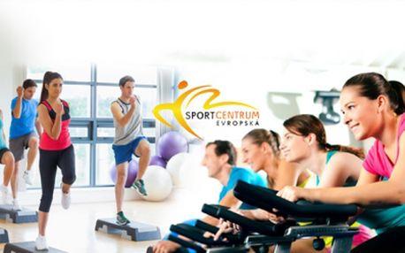 Fitness balíček pro všechny! 4 VSTUPY do fitness centra i na skupinové lekce za 198 Kč ve Sport centrum Evropská na Praze 6! Kombinujte AEROBIC, SPINNING, ALPINNING i FITNESS zónu a dostaňte se do kondice se slevou 55%!