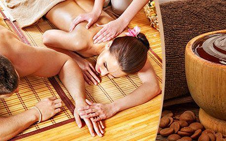 Romantická párová olejová masáž se šampaňským 60 minut