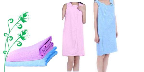 Rychleschnoucí zavinovací ručník, osuška, šaty