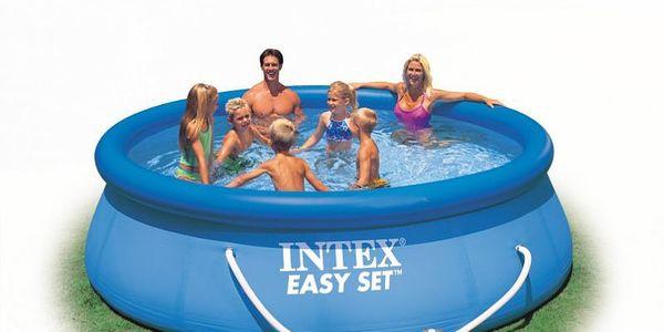 Nadzemní bazén Tampa o průměru 3,66 m, vybaven kartušovou filtrací.