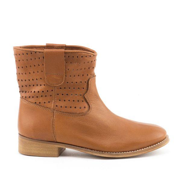 Dámské hnědé kotníkové boty MISU