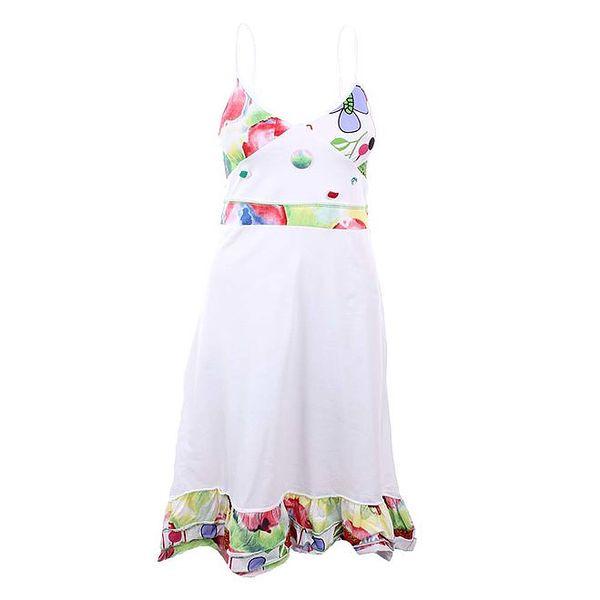 Dámské bílé šaty se vzory Dislay DY Design