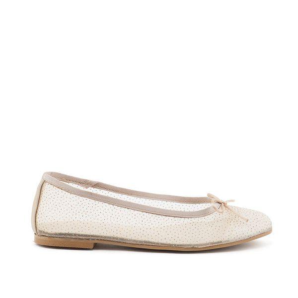 Dámské transparentní béžové boty s mašličkou MISU
