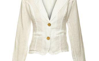 Dámské bílé lněné sako Puro Lino