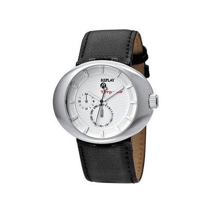 Pánské multifunkční hodinky Replay s koženým páskem