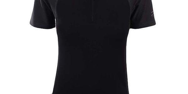 Dámské černé funkční tričko se zipem Hannah