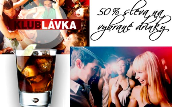 Vyhlášený klub Lávka! NEJOBLÍBENĚJŠÍ KOKTEJLY Cuba Libre, gin s tonicem a vodku s džusem za půlku ve klubu Lávka! Bavte se celou noc ve VIP klubu přímo v centru Prahy!