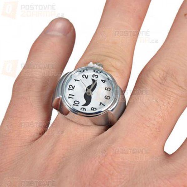 Prstýnkové hodinky s knírkem a poštovné ZDARMA! - 18911205
