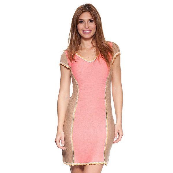 Dámské růžovo-béžové šaty Peace&Love