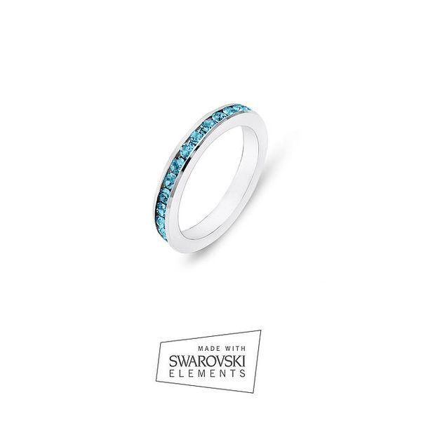 Dámský prsten s modrými krystaly Swarovski Elements