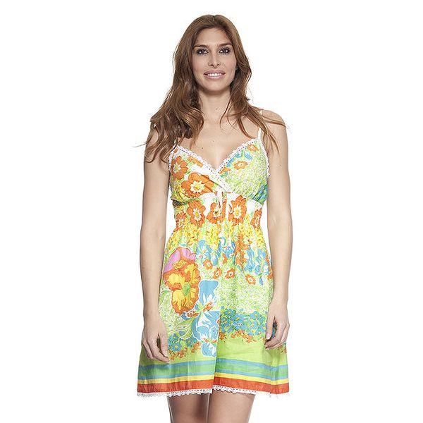 Dámské barevné šaty na ramínka Peace&Love