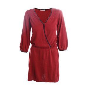 Dámské červené šaty s černými lemy 2two