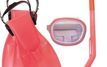 Bestway 25008 - Šnorchlovací set - ploutve, brýle, šnorchl (růžový)