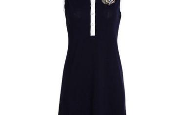 Dámské černé šaty bez rukávů Signore dei Mari