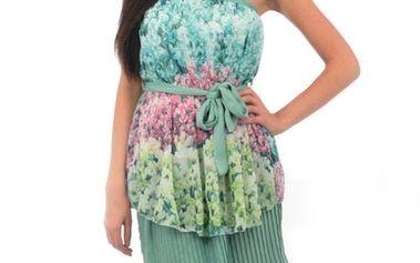 Dámské zelené hedvábné šaty Silvana Cirri