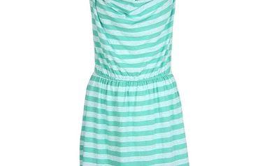 Dámské zeleně proužkované šaty Bench