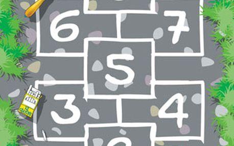VOPI 018515 - Dětský hrací koberec - Šedý panák - 100 x 150 cm