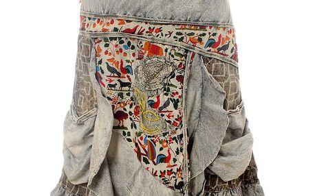 Dámská šedá sukně se zvířecím vzorem Savage Culture