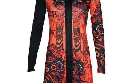 Dámské oranžové šaty Smash s potiskem
