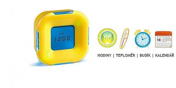 LED budík se 4 funkcemi s G-SENZOREM - při otočení přepne na jinou funkci a svítí dvěmi barvami!