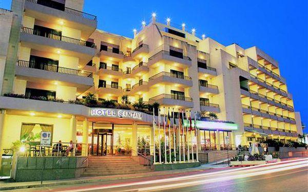 Hotel Santana, Qawra, Malta, letecky, snídaně v ceně