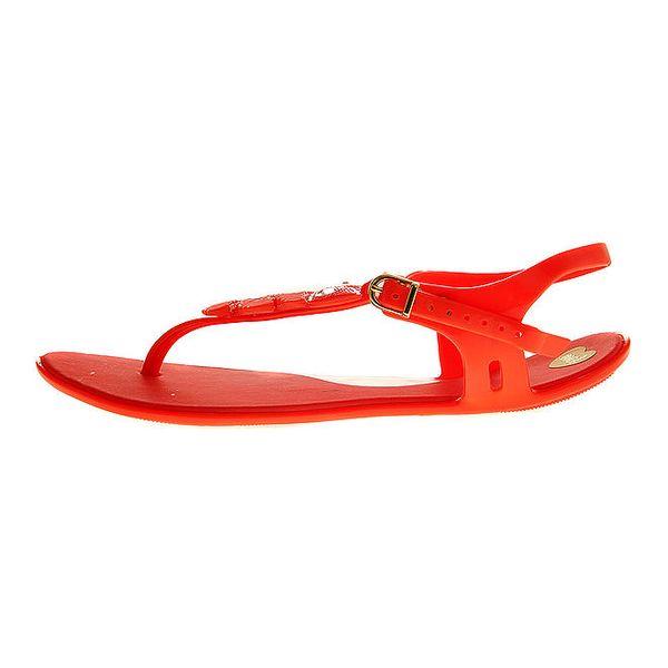 Dámské červené sandály Mel se sovičkou