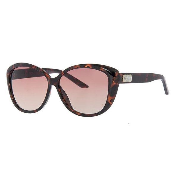 Dámské tmavě žíhané sluneční brýle Guess