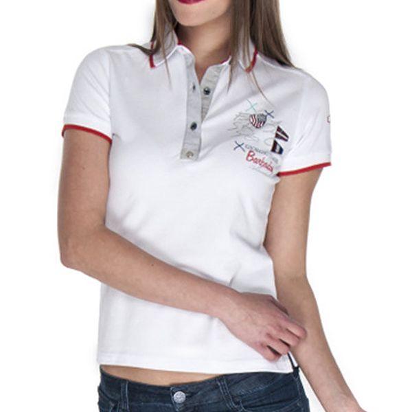 Dámské polo tričko v bílé barvě Giorgio Di Mare
