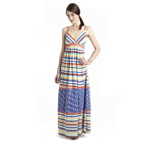 Dámské šaty Uttam Boutique s duhovými proužky