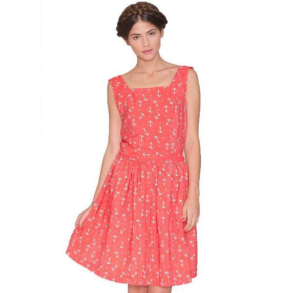 Dámské broskvové šaty s kotvičkami Pepa Loves