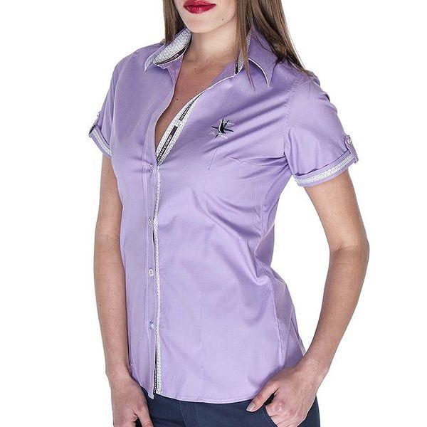 Dámská fialová košile s krátkým rukávem Giorgio di Mare
