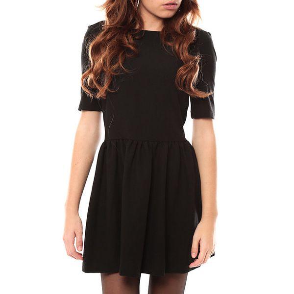 Dámské černé šaty s lodičkovým výstřihem My Little Poesy