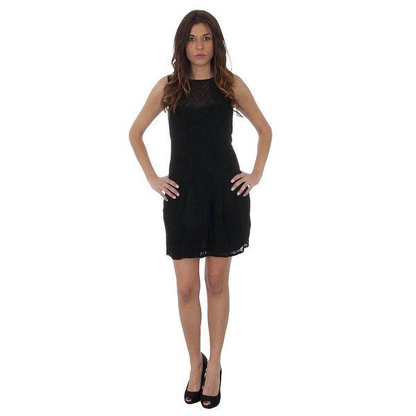 Dámské černé krajkové šaty Maria Villoresi