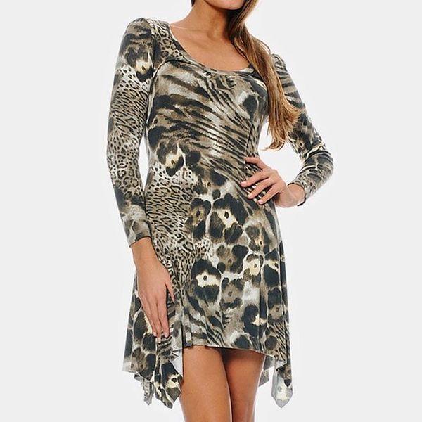 Dámské šaty se zvířecím vzorem ODM Fashion