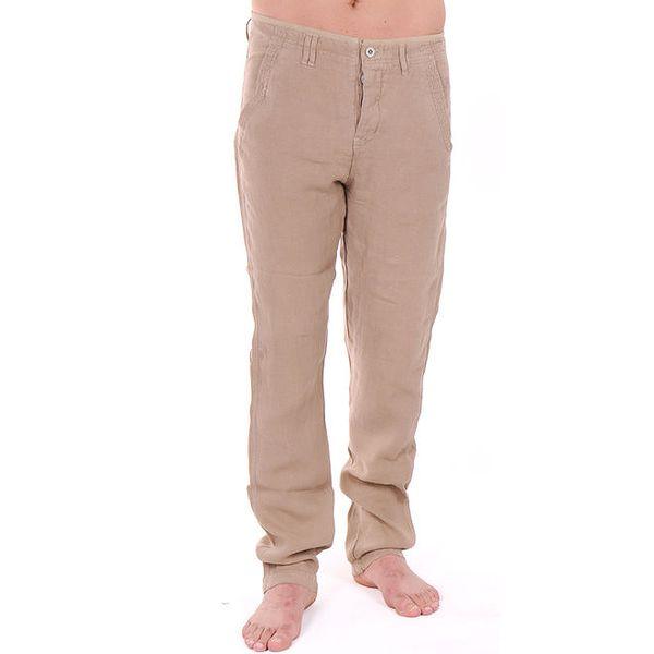 Pánské béžové lněné kalhoty Giorgio di Mare
