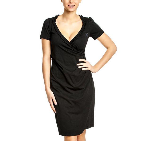 Dámské černé šaty s hlubokým výstřihem Vive Maria