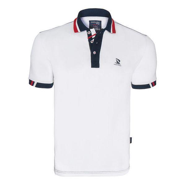 Pánské bílé polo tričko s logem na hrudi Giorgio Di Mare