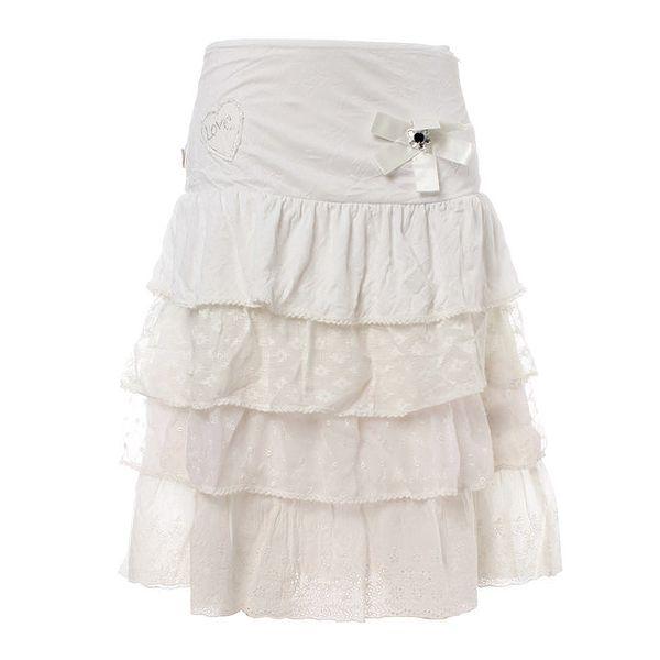 Dámská bílá volánová sukně Savage Culture