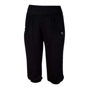 Dámské černé 3/4 kalhoty na jógu Puma