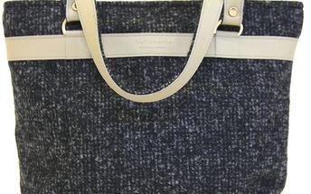 Dámská šedá melírovaná kabelka Bellemarie