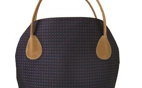 Dámská černá kabelka s fialovými tečkami Bellemarie