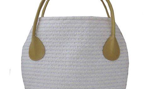 Dámská krémová kabelka s horčicově žlutými poutky Bellemarie