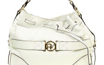 Dámská bílá kabelka se zlatou sponou Roberto Verino