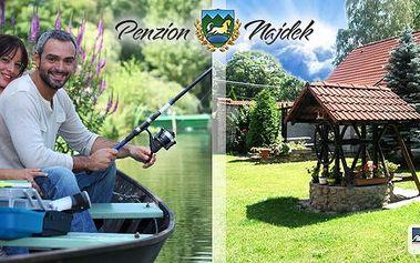 Léto v Jižních Čechách pro 2 osoby na 3 a více dní v Penzionu Najdek - polopenze, lahev vína, vstup do bazénu a k tomu navíc rybářská povolenka po celou dobu pobytu! Rybářský úlovek si můžete sami ugrilovat nebo vyudit!