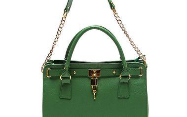 Dámská zelená kabelka s řetízkem Roberta Minelli