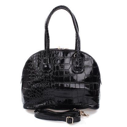 Dámská lakovaná kabelka v černé barvě Mercucio