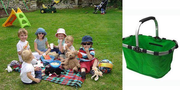 Praktický skládací košík na nákup, na piknik, do auta, na chatu
